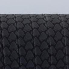 Rzemień płaski klejony czarna łuska 11x1.5mm