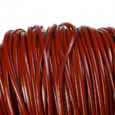 Rzemień płaski brązowy 2,5x1mm