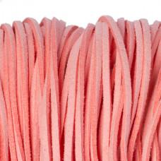 Rzemień zamszowy płaski różowy 2,5x1mm