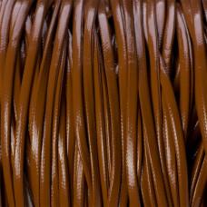 Rzemień płaski brązowy 2.5x1mm