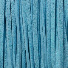 Rzemień zamszowy płaski metalizowany niebieski 2,5x1mm