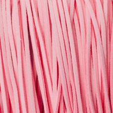 Rzemień zamszowy płaski pastelowy róż 1x2.5mm