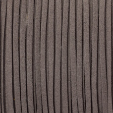 Rzemień zamszowy płaski ciemno szary 1x2.5mm