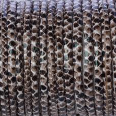 Rzemień klejony w kropeczki skóra węża 4mm