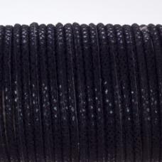 Rzemień klejony czarny w błyszczące cętki 4mm