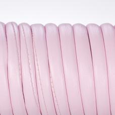 Rzemień szyty wewnętrznie blady róż 6mm