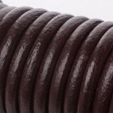 Rzemień naturalny gorzka czekolada 8mm