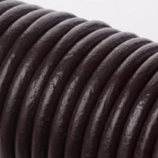 Rzemień naturalny gorzka czekolada 6mm