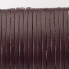 Rzemień naturalny płaski lakierowany 3x2mm ciemny brązowy