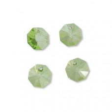 Preciosa octagon light green 14mm