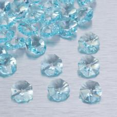 Preciosa octagon light blue 14mm