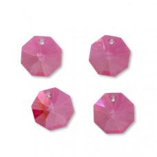 Preciosa octagon candy pink 18mm