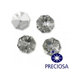 Preciosa octagon 18mm silver shadow