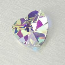 2718 heart, crystal AB 40mm