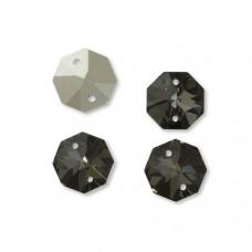 Preciosa octagon silver night 16mm dwie dziurki