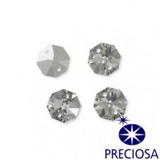 Preciosa octagon silver shadow 16mm dwie dziurki