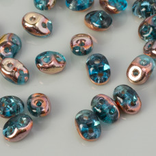 SuperDuo 2,5x5mm Copper - Aqua (C60020)