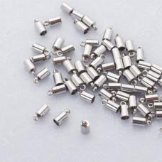 Końcówki do sznurków i rzemieni ze stali chirurgicznej 3mm