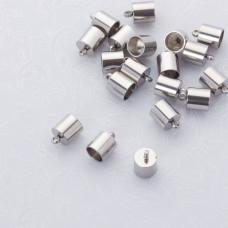 Końcówki do sznurków i rzemieni ze stali chirurgicznej 6mm