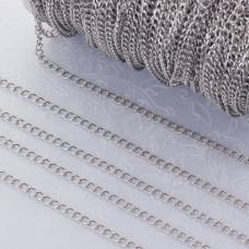 Łańcuszek simple ze stali chirurgicznej -2.5x3.5 mm
