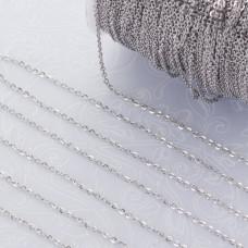 Łańcuszek mini płaski owal ze stali chirurgicznej 1.0x1.5mm