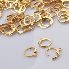 Bigle angielskie okrągłe ze stali chirurgicznej pozłacane 12mm złoty