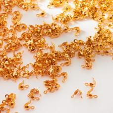 Łapaczki dziewczynki ze stali chirurgicznej złote 7mm