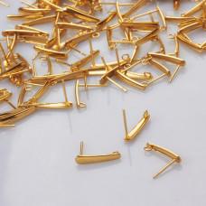 Sztyfty łezki ze stali chirurgicznej pozłacane 15mm