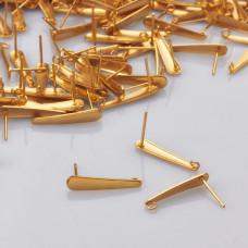 Sztyfty łezki ze stali chirurgicznej pozłacane 20mm