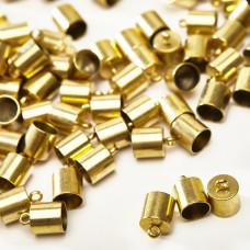 Końcówki ze stali chirurgicznej pozłacane 9mm