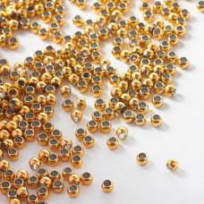 Kulki ze stali chirurgicznej z dużą dziurką w kolorze złotym 3mm