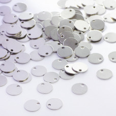 Zawieszka ze stali chirurgicznej okrągła celebrytka srebrny 10mm