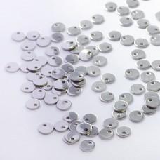 Zawieszka ze stali chirurgicznej okrągła celebrytka srebrny 6mm