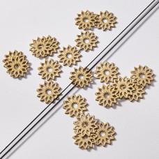 Zawieszka łącznik pozłacany ze stali chirurgicznej kwiatek rozeta 15,9mm