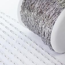 Łańcuch ze stali chirurgicznej owa wąski srebrny 3x9mm