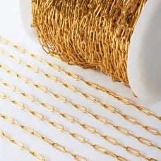 Łańcuch ze stali chirurgicznej owa wąski złoty 3x9mm