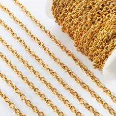 Łańcuch ze stali chirurgicznej  owal gładki 10x8mm