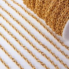 Łańcuch ze stali chirurgicznej  owal gładki 8,5x6mm