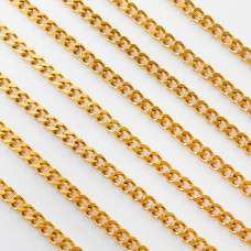 Łańcuch ze stali chirurgicznej  pancerka gruba 9x6mm