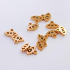 Mini zawieszka ze stali chirurgicznej oczko 4,7mm złota