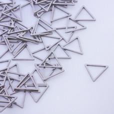 Baza geometryczna ze stali chirurgicznej trójkąt 12mm srebrny