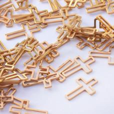 Baza geometryczna ze stali chirurgicznej krzyż 16x10,5mm złoty
