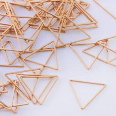 Baza geometryczna ze stali chirurgicznej trójkąt 20mm złoty