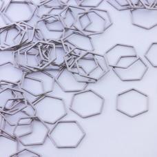 Baza geometryczna ze stali chirurgicznej heksagon 18mm srebrny