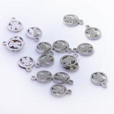 Zawieszka ze stali chirurgicznej miś srebrny 9,6mm