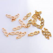 Łącznik ze stali chirurgicznej znak nieskończoności złoty 13,7mm
