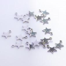 Zawieszka ze stali chirurgicznej gwiazdka srebrny 9,5mm