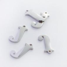 Zawieszka ze stali szlachetnej literka J srebrna 14mm