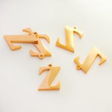 Zawieszka ze stali szlachetnej literka Z złota 13,5mm