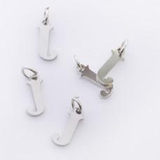 Zawieszka ze stali chirurgicznej literka J srebrna 8mm